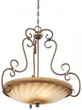 Minka-Lavery 1983-565 - Three Light Bronze Up Pendant