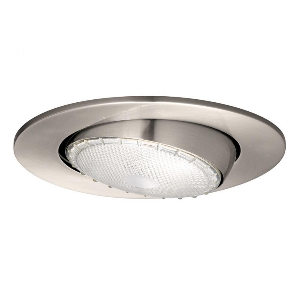 One Light Nickel Directional Recessed Light