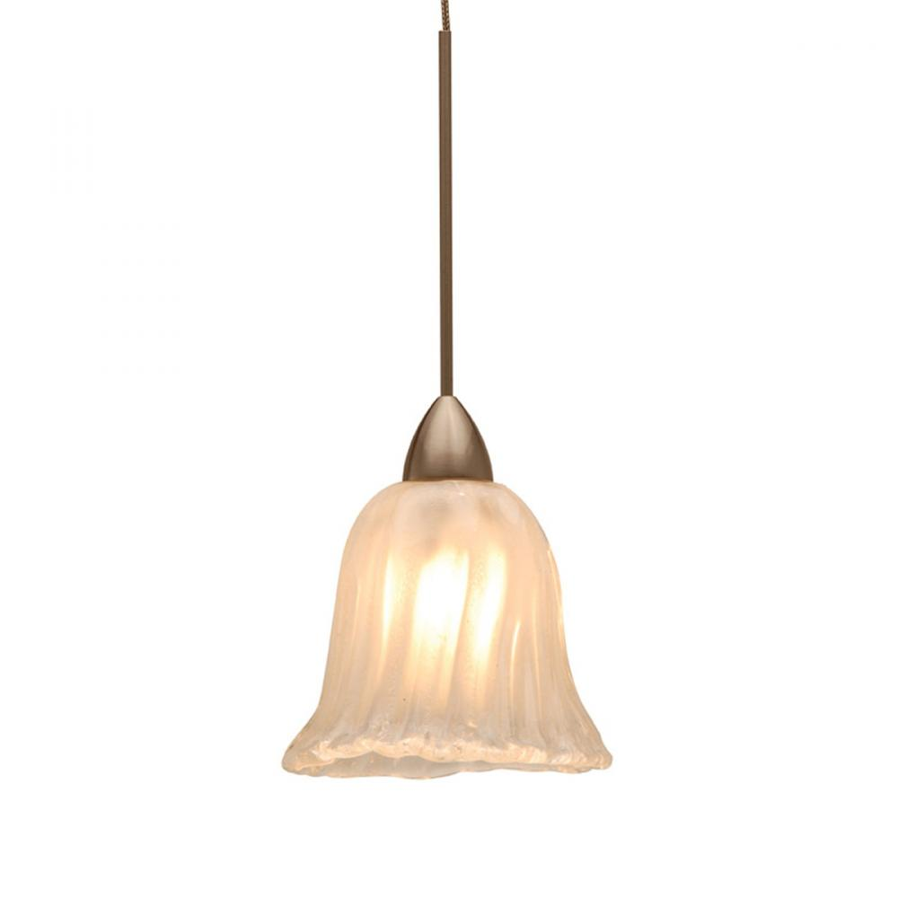 Florentine Quick Connect Pendant - Frosted Shade with Dark Bronze Socket Set
