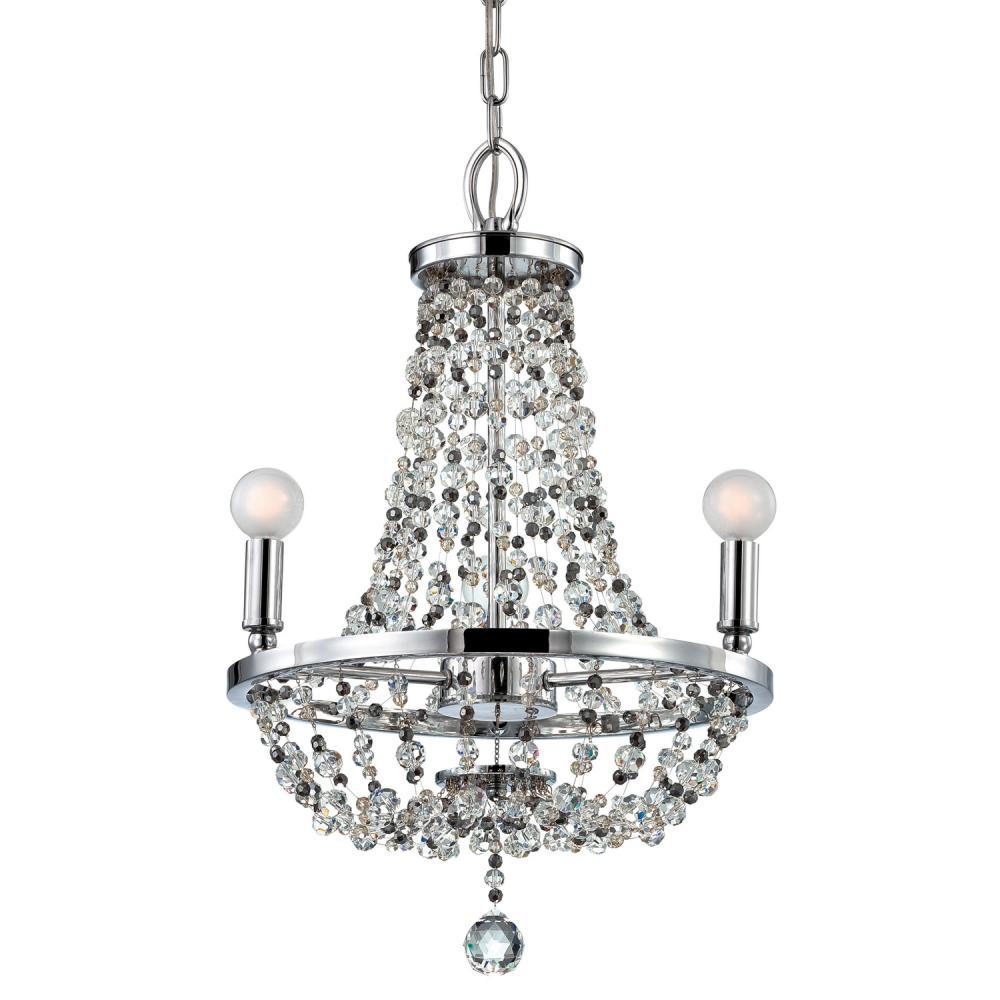 Crystorama channing 3 light chrome mini chandelier 1543 ch mwp crystorama channing 3 light chrome mini chandelier arubaitofo Image collections