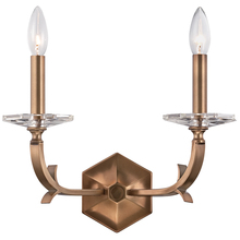 Crystorama 2232-RB - Crystorama Hugo 2 Light Roman Bronze Sconce