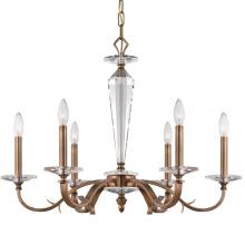 Crystorama 2236-RB - Crystorama Hugo 6 Light Roman Bronze Chandelier