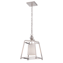 Crystorama 2240-PN - Libby Langdon for Crystorama Sylvan 1 Light Polished Nickel Pendant