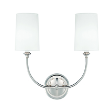 Crystorama 2242-PN - Libby Langdon for Crystorama Sylvan 2 Light Polished Nickel Sconce