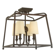 Crystorama 2243-DB - Libby Langdon for Crystorama Sylvan 4 Light Dark Bronze Ceiling Mount