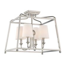 Crystorama 2243-PN - Libby Langdon for Crystorama Sylvan 4 Light Polished Nickel Ceiling Mount