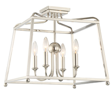 Crystorama 2243-PN_NOSHADE - Libby Langdon for Crystorama Sylvan 4 Light Polished Nickel Ceiling Mount
