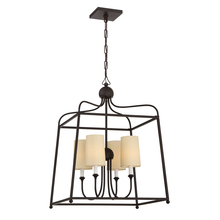 Crystorama 2244-DB - Libby Langdon for Crystorama Sylvan 4 Light Dark Bronze Chandelier