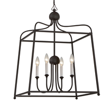 Crystorama 2244-DB_NOSHADE - Libby Langdon for Crystorama Sylvan 4 Light Dark Bronze Chandelier