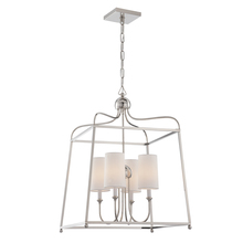 Crystorama 2244-PN - Libby Langdon for Crystorama Sylvan 4 Light Polished Nickel Chandelier