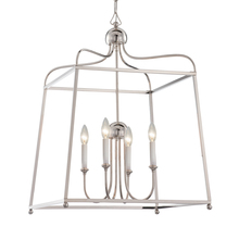 Crystorama 2244-PN_NOSHADE - Libby Langdon for Crystorama Sylvan 4 Light Polished Nickel Chandelier