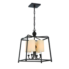 Crystorama 2245-DB - Libby Langdon for Crystorama Sylvan 4 Light Dark Bronze Chandelier