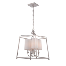 Crystorama 2245-PN - Libby Langdon for Crystorama Sylvan 4 Light Polished Nickel Chandelier