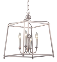 Crystorama 2245-PN_NOSHADE - Libby Langdon for Crystorama Sylvan 4 Light Polished Nickel Chandelier