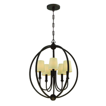 Crystorama 2247-DB - Libby Langdon for Crystorama Sylvan 5 Light Dark Bronze Chandelier