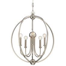 Crystorama 2247-PN_NOSHADE - Libby Langdon for Crystorama Sylvan 5 Light Polished Nickel Chandelier