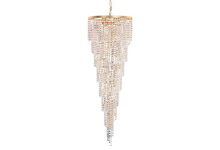 Crystorama 3710-GD-CL-SAQ - Crystorama Shower 15 Light Clear Spectra Crystal Chandelier I