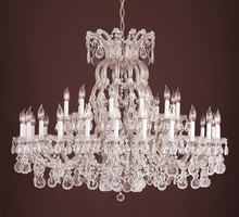 Crystorama 4308-MWP-SILVER - Crystorama 37 Light Silver Chandelier