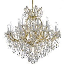 Crystorama 4418-GD-CL-MWP - Crystorama Maria Theresa 19 Light Clear Crystal Gold Chandelier