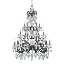 Crystorama 5190-EB-CL-MWP - Crystorama Legacy 20 Light Clear Crystal Bronze Chandelier