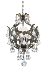 Crystorama 5193-EB-CL-SAQ - Crystorama Legacy 3 Light Clear Spectra Crystal Bronze Mini Chandelier