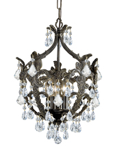 Crystorama 5195-EB-CL-MWP - Crystorama Legacy 5 Light Clear Crystal Bronze Mini Chandelier