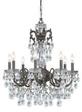Crystorama 5198-EB-CL-MWP - Crystorama Legacy 8 Light Clear Crystal Bronze Chandelier