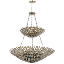 Crystorama 599-SA - Crystorama Broche 18 Light Antique Silver Leaf Pendant Chandelier