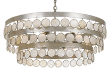 Crystorama 6008-SA - Crystorama Coco 6 Light Antique Silver Chandelier