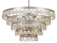 Crystorama 6009-SA - Crystorama Coco 9 Light Antique Silver Chandelier