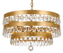 Crystorama 6106-GA - Crystorama Perla 5 Light Antique Gold Chandelier