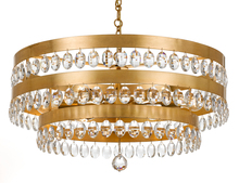 Crystorama 6108-GA - Crystorama Perla 6 Light Antique Gold Chandelier