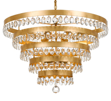 Crystorama 6109-GA - Crystorama Perla 9 Light Antique Gold Chandelier