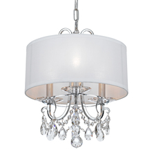 Crystorama 6623-CH-CL-MWP - Crystorama Othello 3 Light Clear Crystal Polished Chrome Mini Chandelier