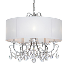 Crystorama 6625-CH-CL-MWP - Crystorama Othello 5 Light Clear Crystal Polished Chrome Chandelier