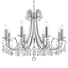 Crystorama 6828-CH-CL-MWP - Crystorama Othello 8 Light Clear Crystal Polished Chrome Chandelier