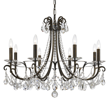 Crystorama 6828-EB-CL-MWP - Crystorama Othello 8 Light Clear Crystal English Bronze Chandelier