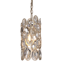Crystorama 7580-DT - Crystorama Sterling 1 Light Distressed Twilight Pendant