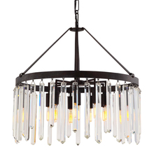 Crystorama 8406-FB - Crystorama Hollis 10 Light Bronze Chandelier