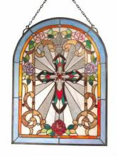 Dale Tiffany TC60353 - 18X24 CROSS WINDOW PANEL