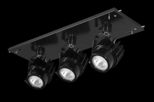 RAB Lighting MDLED3X12F-40Y-B - MULTI 3X12W LED 3K 40DEG BLK GEAR TRAY BLK HEAD 120V - 277V