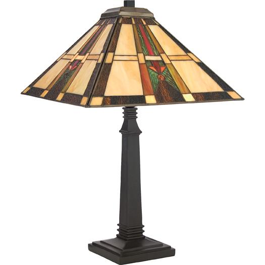 One Light Vintage Bronze Table Lamp