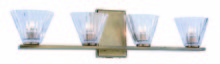 Elegant 1520W25LAB - 1520 Oslo Collection Wall Sconce, Vanity D:25in H:6in E:4in Lt:4 Light Antique Brass Finish
