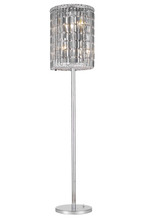 Elegant 2030FL65C/SS - 2030 Maxime Collection Floor Lamp D15in H65in Lt:4 Chrome Finish (Swarovski Strass/Elements Cut Crys
