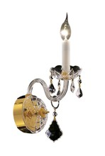 Elegant 7831W1G/EC - 7831 Alexandria Collection Wall Sconce D:4in H:15in E:8.5in Lt:1 Gold Finish (Elegant Cut Crystals)