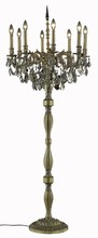 Elegant 9208FL24FG-GT/SS - 9208 Rosalia Collection Floor Lamp D:24in H:62in Lt:8 French Gold Finish (Swarovski� Elements Crysta
