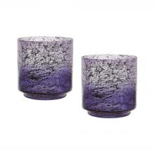 Dimond 876030/S2 - Ombre Hurricanes In Plum - Set of 2