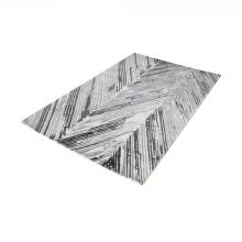 Dimond 8905-062 - Rhythm Handwoven Printed Wool Rug In Grey And Wh