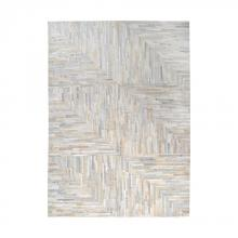 Dimond 8905-364 - Karim Hand Stitched Leather Patchwork Rug 16x16