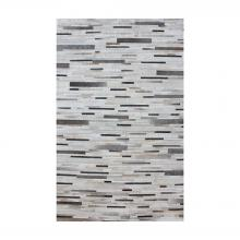 Dimond 8905-374 - Joico Hand Stitched Leather Patchwork Rug 16x16